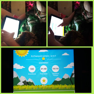 working on ixl and completion screen