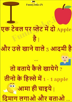 Ek Table Par Plate Me 2 Apple Hai aur Khane Wale 3: Solve This Puzzle IN Hindi