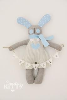 fiocco nascita in feltro con coniglio