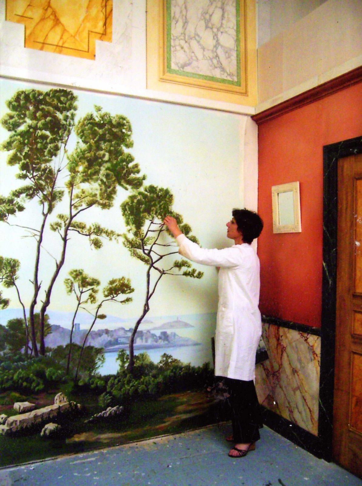 peinture decorative en trompe l 39 oeil fresque murale. Black Bedroom Furniture Sets. Home Design Ideas