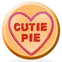 Cutie Pie text on Love Heart sweet free image for texting