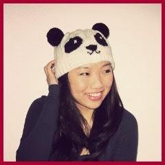 Gorro panda de punto
