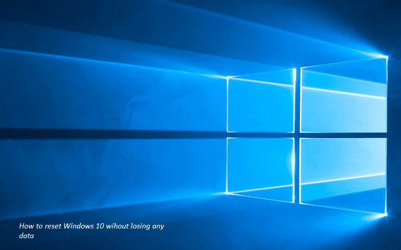 Cara reset WIndows 10 data tetap aman data tetap ada