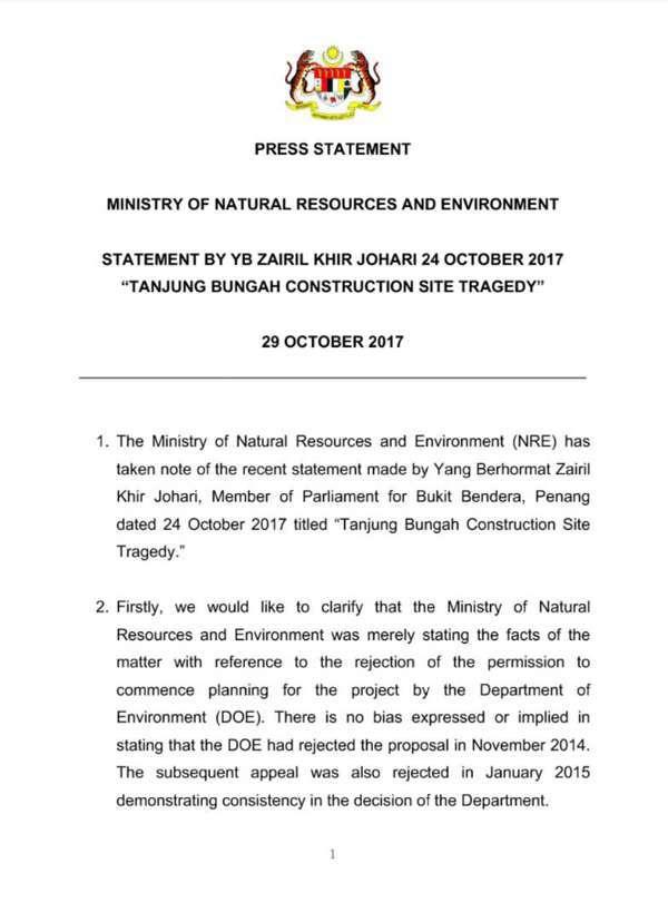 Tanah Runtuh Tanjung Bungah: DAP Diminta Berhenti Salahkan Putrajaya