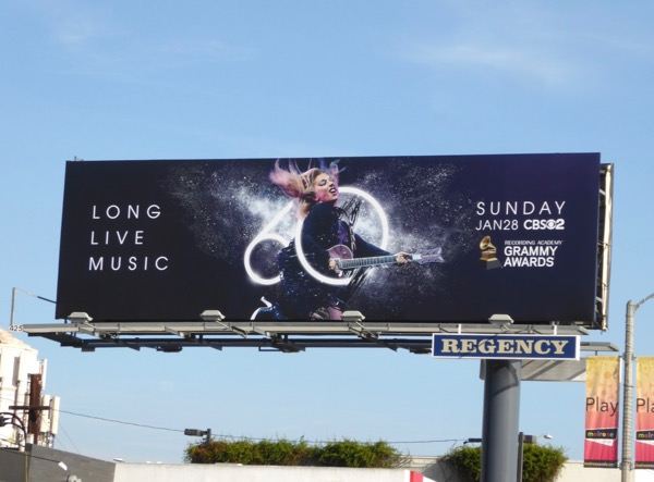 Lady Gaga 60th Grammy Awards billboard