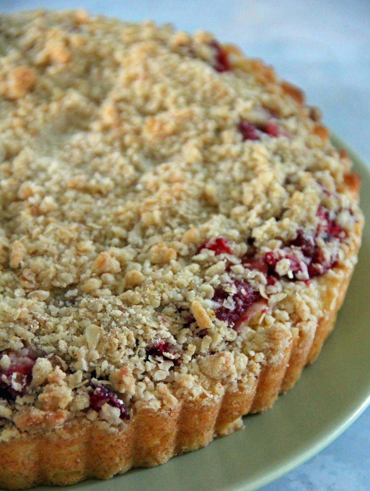 Jo And Sue Strawberry Crumble Cake