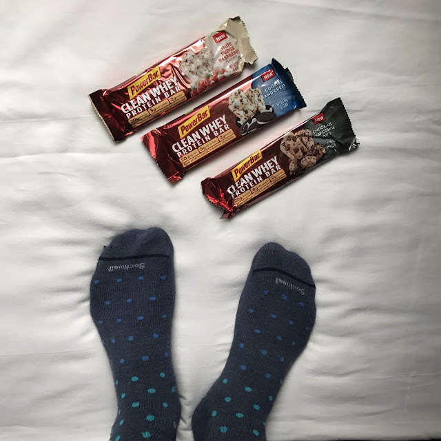 PowerBar Clean Whey Protein Bar Chocolate Chip Cookie Dough White Fudge Raspberry Cookies And Cream Nutrition Portable Product Review Running Sockwell Compression Socks