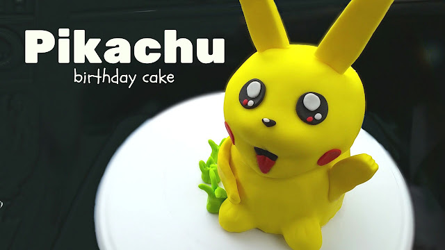 Pikachu Pokemon birthday cake via jellybeantrail.com