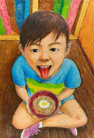 "Honourable Mention Young Archie 2018 - ""My favourite food"" by Jack Lee 