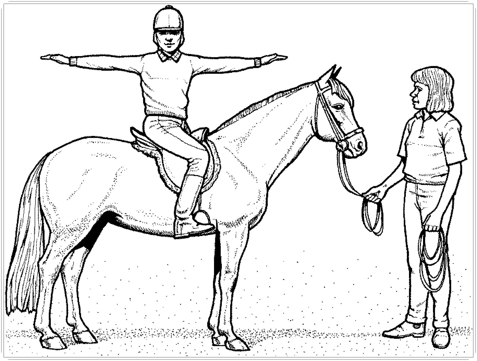 12 Ausmalbilder Pferde Mit Reiter - Besten Bilder von ausmalbilder