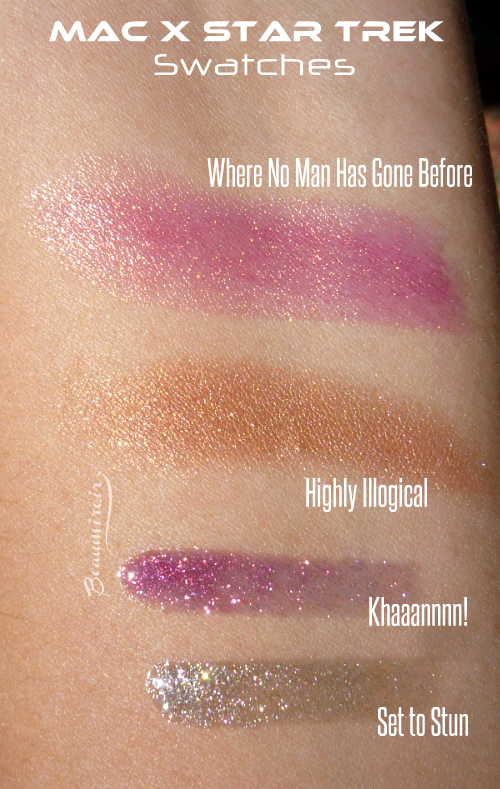 Swatches mac star trek where no man has gone before khaaannnn! set to stun highly illogical