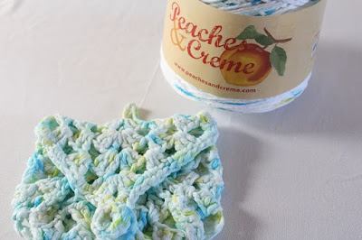 crochet, soap saver, colors running, Peaches & Creme yarn, review