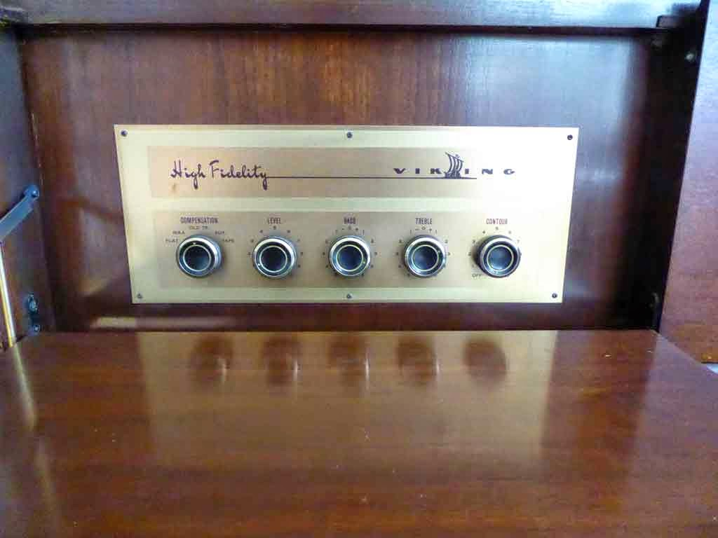 Viking Amplifier in Floor Console Record Player