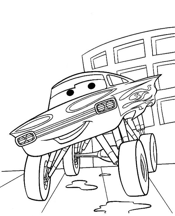Tranh tô màu vương quốc xe hơi 11