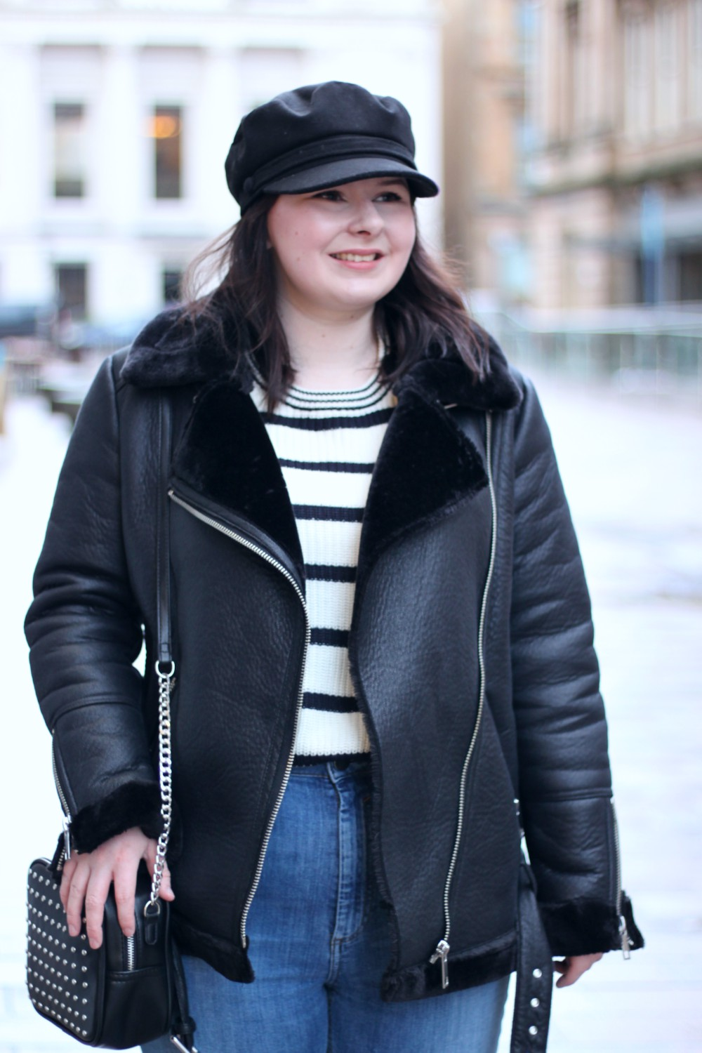 Aviator Jacket, Baker Boy Hat