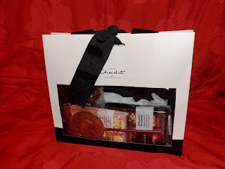 A Gift bag filed with chocolate