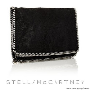 Crown Princess Victoria carried Stella McCartney Falabella Shaggy Deer Foldover Clutch