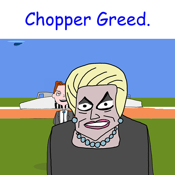Laberal One Day Bronwyn Bishop Caught A Helicopter Cartoon