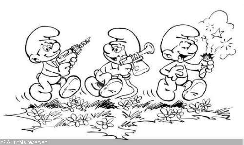 Desenhos E Riscos: Smurfs