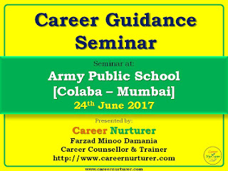 Career Guidance Seminar by Career Nurturer at Army Public School Mumbai