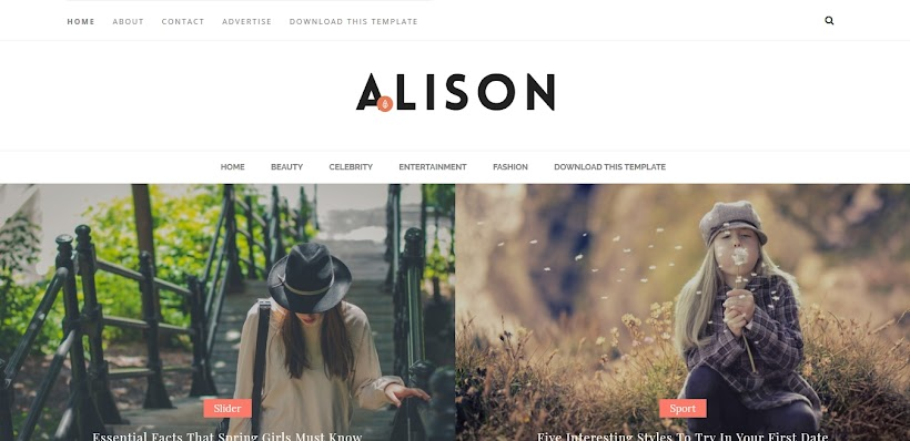 Alison Free Blogger Template