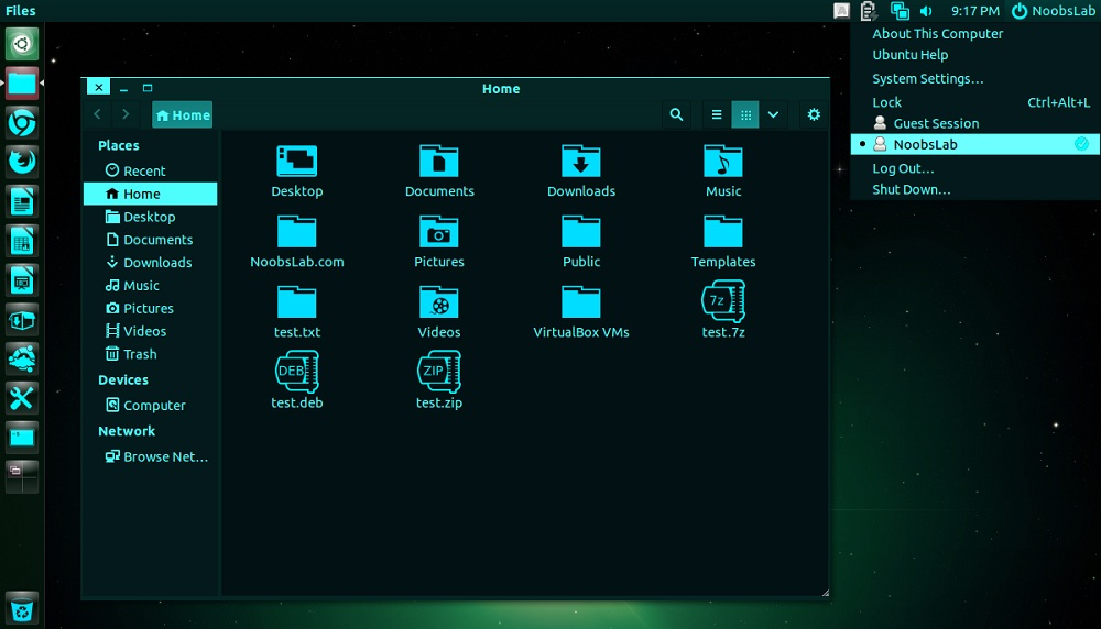 Acvamarin theme and icons for Ubuntu/Linux Mint/other