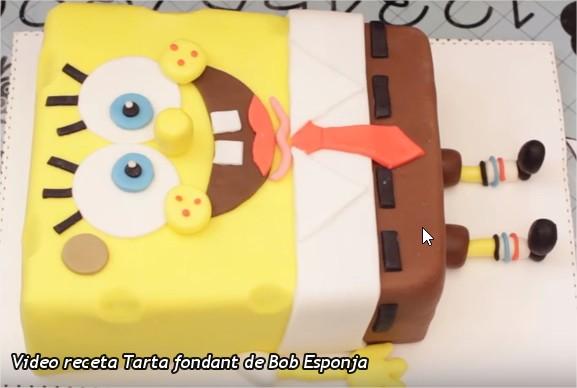 Vídeo receta pastel de bob esponja
