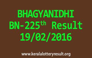BHAGYANIDHI BN 225 Lottery Result 19-02-2016