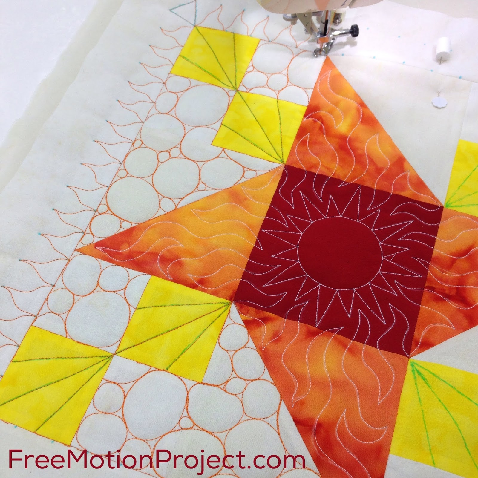 The Free Motion Quilting Project Practice Machine Quilting Pebbling