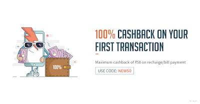Freecharge 100% Cash Back Offer For New User(Freecharge New User Offer)