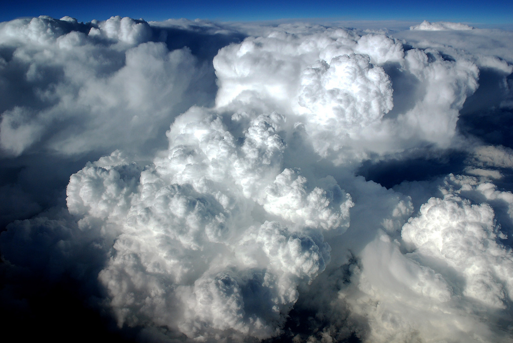 Agressive cumulonimbus Clouds