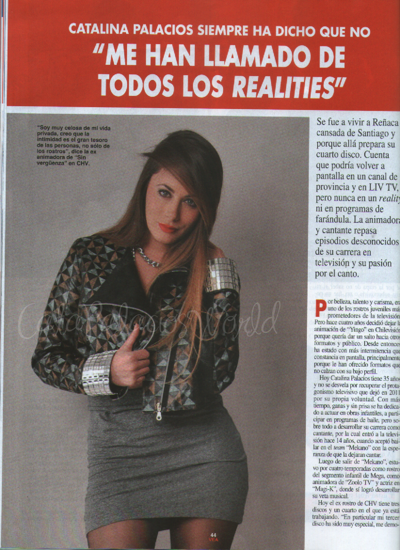 Catapalaciosworld entrevista revista vea catalina for Revista primicias ya hoy
