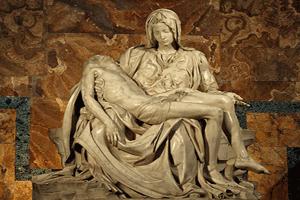 La Piedad, obra del artista renacentista italiano Miguel Ángel Buonarroti