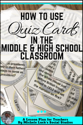 Middle or high school teachers can make your assessments more interactive with this how-to on using quiz cards in the classroom. Number 8 is my favorite. #teaching
