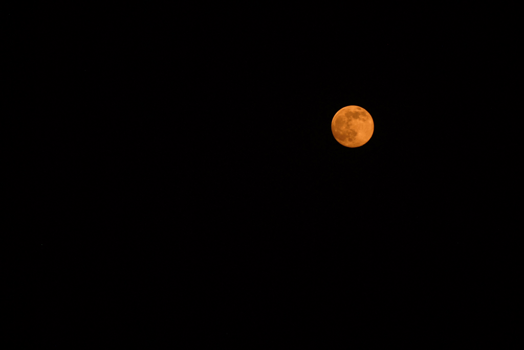 Photo of the moon as it seen in India.