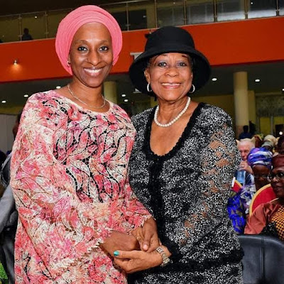 Photo: Dolapo Osinbajo meets first female Senior Advocate of Nigeria, Mrs Folake Solanke