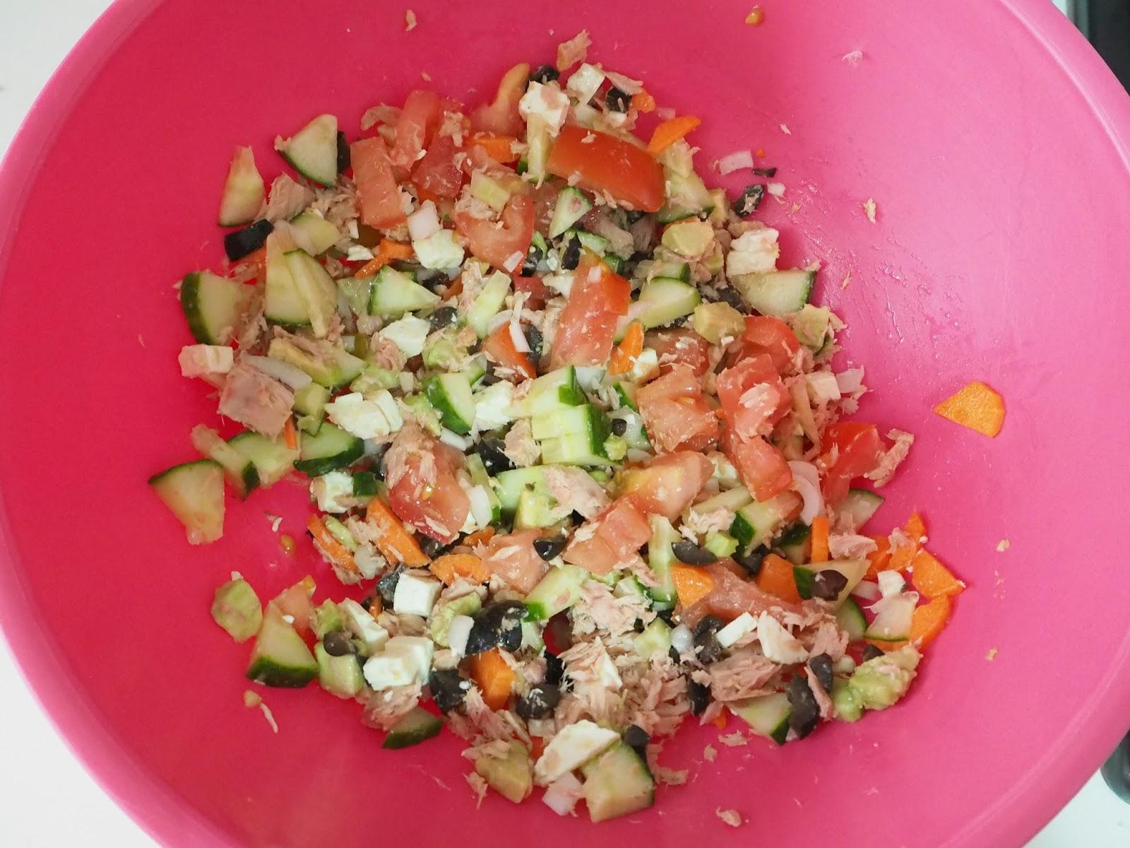 Mins cocina ensalada veraniega con pasta integral for Ensalada de pasta integral