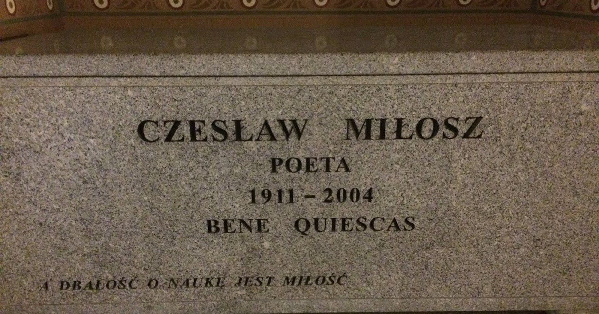 milosz v pienkowski essay He also gave a reading at butler university on april 2 in tandem with czeslaw milosz like published an essay this spring in piotr pienkowski.