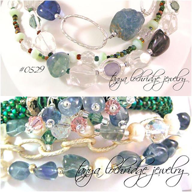 Tanya Lochridge Jewelry Fluorite & Crystal Quartz Gemstone Necklace