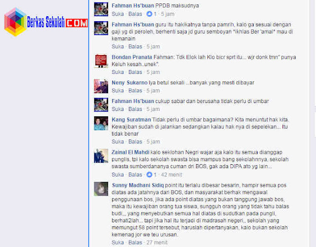 Jenis Pungutan Liar yang ada di lingkungan sekolah Versi Netizen