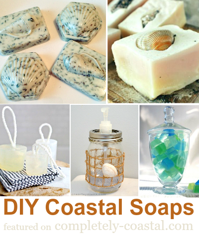 DIY Soap with a Coastal Beach Nautical Theme