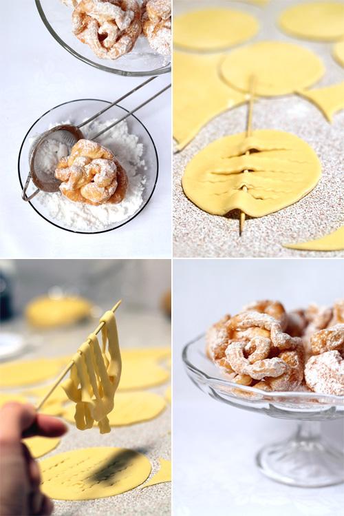 smażone ciastka kule śniegowe Schneeballen