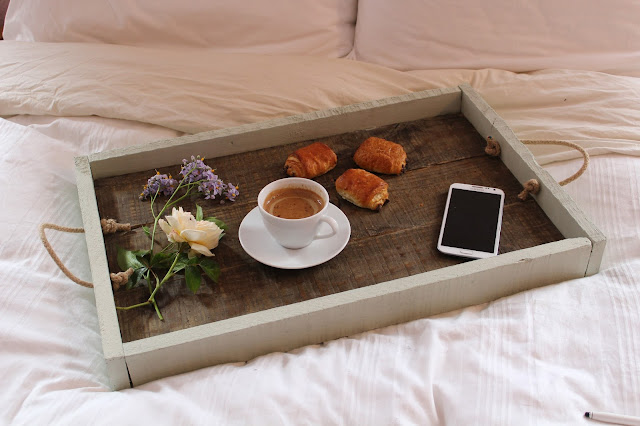 DIY rustic wooden tray