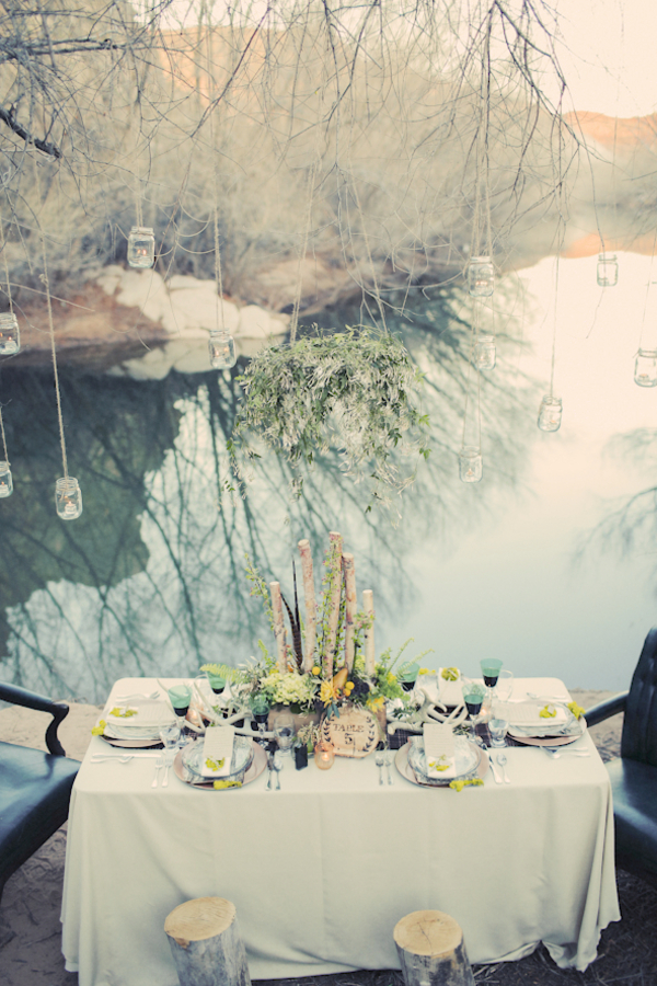 bride+groom+bridal+dress+gown+floral+hair+wreath+rustic+woodland+ecofriendly+eco+friendly+green+emerald+color+of+the+year+pantone+cake+dessert+table+reception+centerpiece+blue+hipster+fall+autumn+gideon+photography+36 - Woodland Fairytale