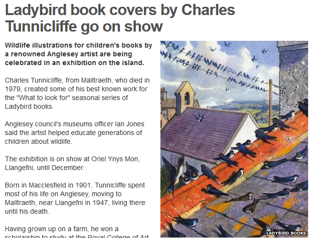 BBC website: Tunnicliffe exhibition