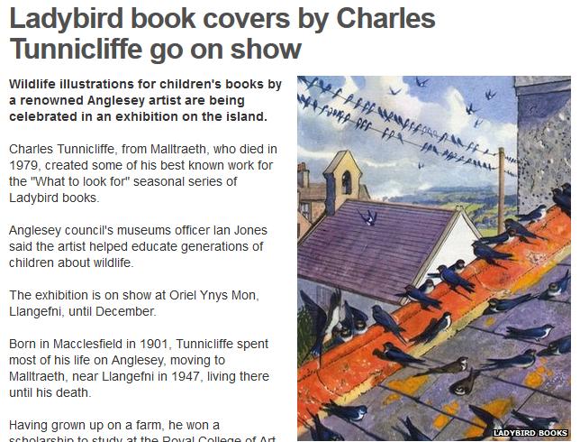 BBC website: Tunnicliffe exhibition