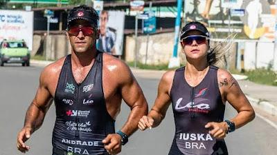 Leonardo Santedicola e Yuska Sampaio participam do Iroman Brasil em Alagoas