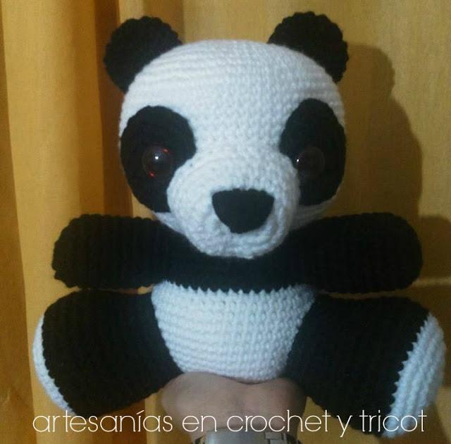 Osito panda llavero,de Sakura Amigurumi | Oso panda, Panda ... | 630x640