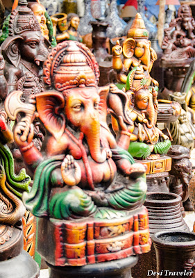 ganesha or ganpati idols made from clay