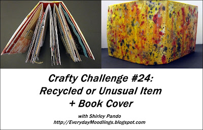Challenge #24 Recycled or Unusual Item + Book Cover